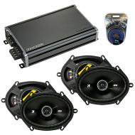 Compatible with Ford Five Hundred 2005-2007 Speaker Replacement Kicker (2) DSC68 & CXA360.4 Amp