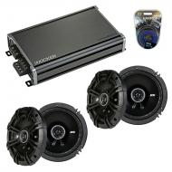 Compatible with Jaguar X-Type 2001-2008 Speaker Replacement Kicker (2) DSC65 & CXA360.4 Amp