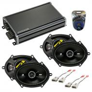 Compatible with Lincoln Mark VIII 93-95 Speaker Replacement Kicker (2) DSC68 & CXA360.4 Amp