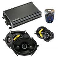Compatible with Lincoln Mark VIII 96-98 Speaker Replacement Kicker DS Series & CXA360.4 Amp