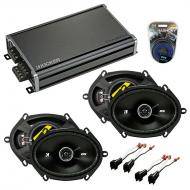 Compatible with Mazda Tribute 2001-2006 Speaker Replacement Kicker (2) DSC68 & CXA360.4 Amp