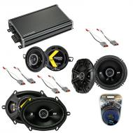 Compatible with Mercury Capri 1986-1986 Speaker Replacement Kicker KS Series & CXA360.4 Amp