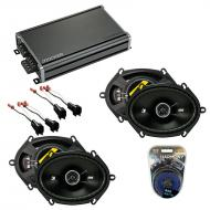 Compatible with Mercury Sable 1996-1999 Speaker Replacement Kicker (2) DSC68 & CXA360.4 Amp