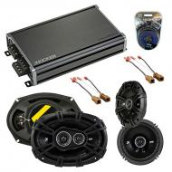 Compatible with Nissan Pathfinder 2005-2007 Speaker Replacement Kicker DS Series & CXA360.4 Amp