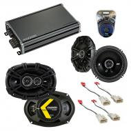 Compatible with Toyota Highlander 2008-2013 Speaker Replacement Kicker DS Series & CXA360.4 Amp
