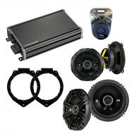 Compatible with Chevy Avalanche 2007-2013 Speaker Replacement Kicker DSC65 DSC5 & CXA360.4 Amp