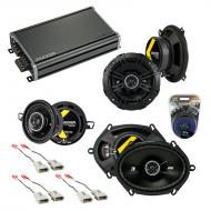Compatible with Ford Mustang 1986-1993 Factory Speaker Replacement Kicker DS Series & CXA360.4