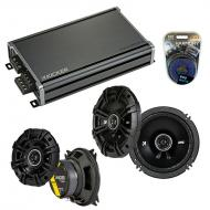 Compatible with Isuzu Rodeo 1998-2004 Speaker Replacement Kicker DSC65 DSC4 & CXA360.4 Amp