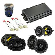Compatible with Oldsmobile Ninety-Eight 1986-1987 Speaker Replacement Kicker DS & CXA360.4 Amp