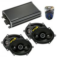 Compatible with Mercury Villager 96-02 Speaker Replacement Kicker (2) DSC68 & CXA360.4 Amp