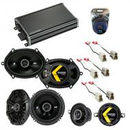 Compatible with Volkswagen Golf 1985-1993 Speaker Replacement Kicker DS Package & CXA360.4 Amp