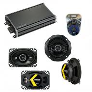 Compatible with Yugo GV/GVX 1986-1990 Speaker Replacement Kicker DSC5 DSC46 & CXA360.4 Amp