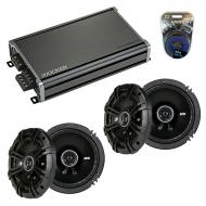 Compatible with Mitsubishi Outlander 03-06 Speaker Replacement Kicker (2) DSC65 & CXA360.4 Amp