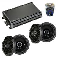 Compatible with Mitsubishi Outlander 07-13 Speaker Replacement Kicker (2) DSC65 & CXA360.4 Amp