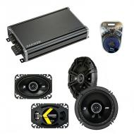 Compatible with Pontiac TransSport APV 1993-1996 Speaker Replacement Kicker DS & CXA360.4 Amp