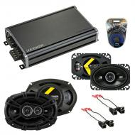 Compatible with Cadillac Coupe DeVille 88-89 Speaker Replacement Kicker DS Series & CXA360.4 Amp