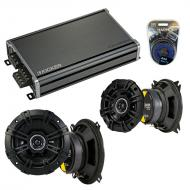 Compatible with Honda Passport 1994-1995 Speaker Replacement Kicker DSC4 DSC5 & CXA360.4 Amp
