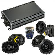 Compatible with Infiniti G35 (coupe) 2003-2007 Speaker Replacement Kicker DS Coax & CXA360.4 Amp