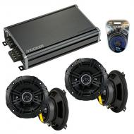 Compatible with Land Rover Discovery II 99-02 Speaker Replacement Kicker (2) DSC5 & CXA360.4 Amp