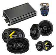 Compatible with Lincoln Continental 82-84 Speaker Replacement Kicker DS Series & CXA360.4 Amp
