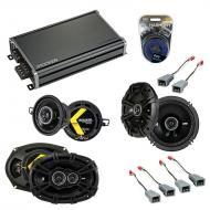 Compatible with Lincoln Continental 85-89 Speaker Replacement Kicker DS Series & CXA360.4 Amp
