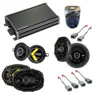 Compatible with Lincoln Continental 90-94 Speaker Replacement Kicker DS Series & CXA360.4 Amp