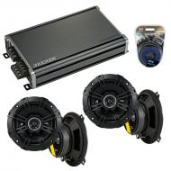 Compatible with Mercedes E-Class 1998-2002 Speaker Replacement Kicker (2) DSC5 & CXA360.4 Amp