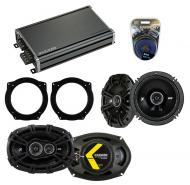 Compatible with Mini Cooper (convertible) 07-08 Speaker Replacement Kicker DS Coax & CXA360.4...