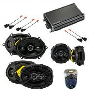Compatible with Chrysler Town & Country 02-07 Speaker Replacement Kicker DS Pack w/ CXA360.4 Amp