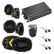 Compatible with Mitsubishi Montero 92-96 Speaker Replacement Kicker DS Series & CXA360.4 Amp