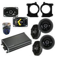 Compatible with Oldsmobile Bravada 1995-1997 Speaker Replacement Kicker DS Series & CXA360.4 Amp