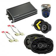 Compatible with Oldsmobile Cutlass Calais 1985-1991 Speaker Replacement Kicker DS & CXA360.4 Amp