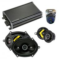 Compatible with Plymouth Caravelle 1985-1988 Speaker Replacement Kicker DS Series & CXA360.4 Amp