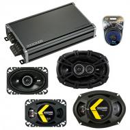 Compatible with Pontiac Parisienne 1983-1986 Speaker Replacement Kicker DS Series & CXA360.4 Amp