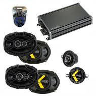 Compatible with Toyota Camry 2007-2011 Speaker Replacement Kicker (2) DSC693 DSC35 & CXA360.4...