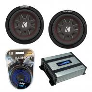 """Kicker (2) 43CWRT672 6.75"""" CompRT CWRT67 Series Sub 150W RMS Subwoofer Bundle with Harmony H..."""