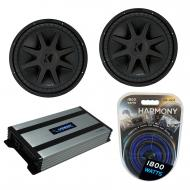 "Kicker (2) CVX15 Car Audio CompVX Subwoofer 15"" Sub 44CVX152 Bundle with Harmony HA-A800.1 A..."