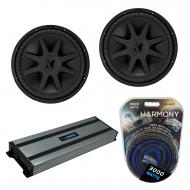"Kicker (2) CVX15 Car Audio CompVX Subwoofer 15"" Sub 44CVX152 Bundle with Harmony HA-A1500.1 ..."