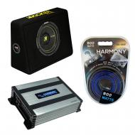 "Kicker TCWC10 Car Audio CompC 10"" Truck Sub Box Enclosure 44TCWC102 Bundle with Harmony HA-A..."
