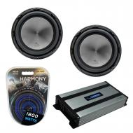 "Harmony Audio (2) HA-A152 Car Stereo Alloy Series 15"" Sub 1500W Subwoofer Bundle with HA-A80..."