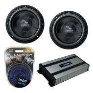 "Harmony Audio (2) HA-C102 Car Stereo Competition Carbon 10"" Sub 2000W Subwoofer Bundle with ..."