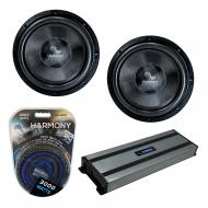"""Harmony Audio (2) HA-C122 Car Stereo Competition Carbon 12"""" Sub 2200W Subwoofer Bundle with ..."""