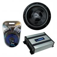 """Harmony Audio HA-C122 Car Stereo Competition Carbon 12"""" Sub 2200W Subwoofer Bundle with HA-A..."""