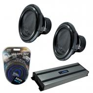"""Harmony Audio (2) HA-ML151 Monolith 15"""" Competition Sub 3200W Subwoofer Bundle with HA-A1500..."""