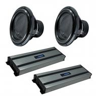 """Harmony Audio (4) HA-ML151 Monolith 15"""" Competition Sub 3200W Subwoofer Bundle with (2) HA-A..."""