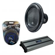 """Harmony Audio HA-ML181 Monolith 18"""" Competition Sub 3500W Subwoofer Bundle with HA-A1500.1 A..."""