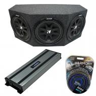 "Kicker Comp C10 Triple 10"" Subwoofer Loaded 1500 Watt Sub Box Enclosure & Harmony HA-A15..."