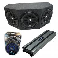 "Kicker Comp C12 Triple 12"" Subwoofer Loaded 1800 Watt Sub Box Enclosure & Harmony HA-A15..."