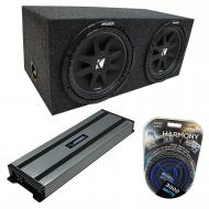 "Kicker Bundle Compatible With Universal Car C15 Comp Dual 15"" Loaded Rearfire Sealed Sub Box..."