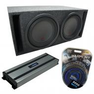 """Universal Car Stereo Slotted S Port Dual 8"""" Alpine Type R SWR-8D2 Sub Box Enclosure with Har..."""